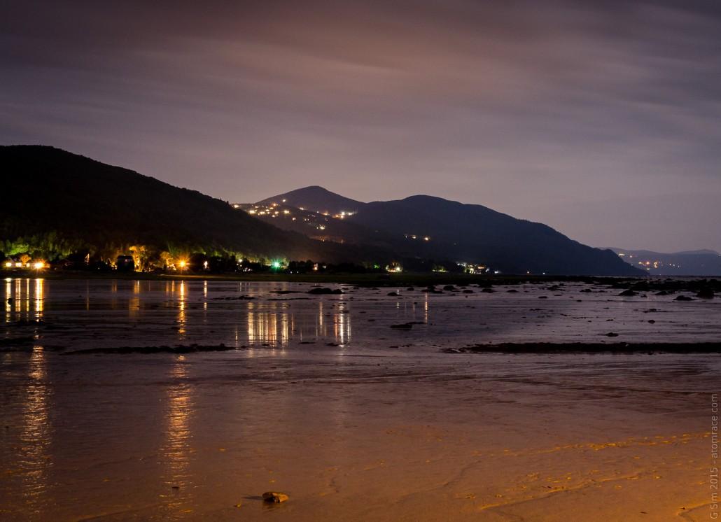 scène de nuit - fleuve-st-laurent14-24 mm nikkor - petite-riviere-st-françois québec