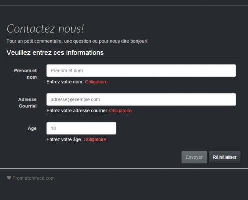Formulaire Angular jS