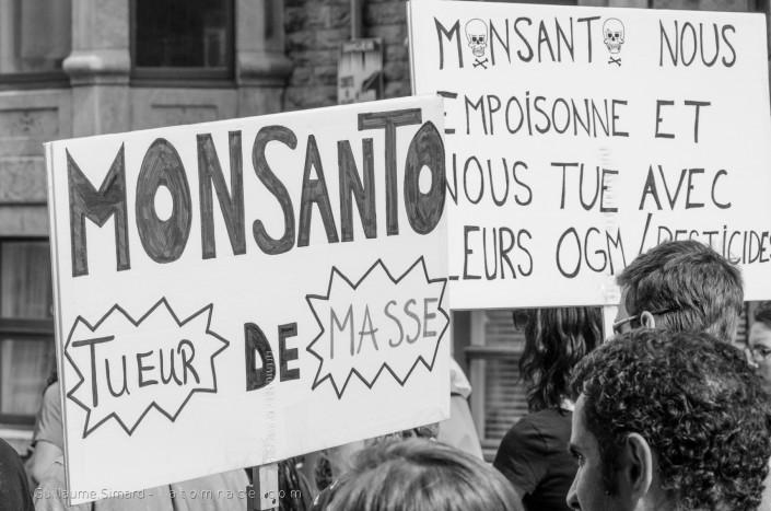 Marche mondiale contre les OGM à Québéc