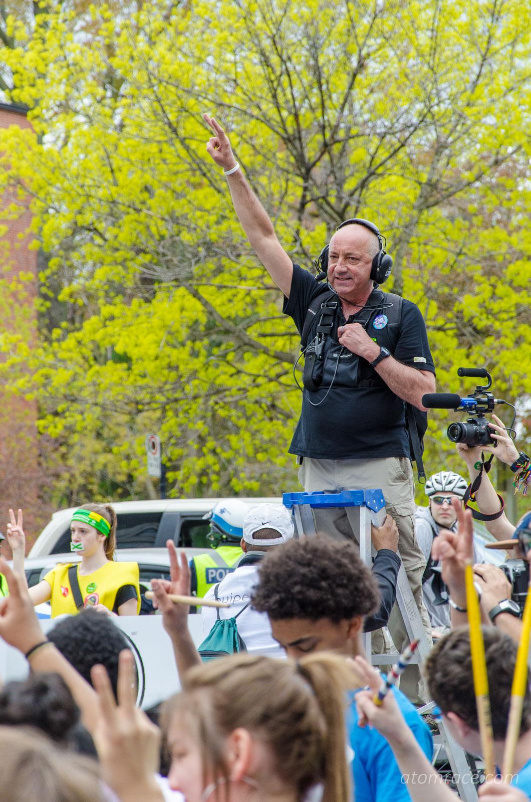 Jean-Pierre Denis à la Zone silence de la Marche monde 2017
