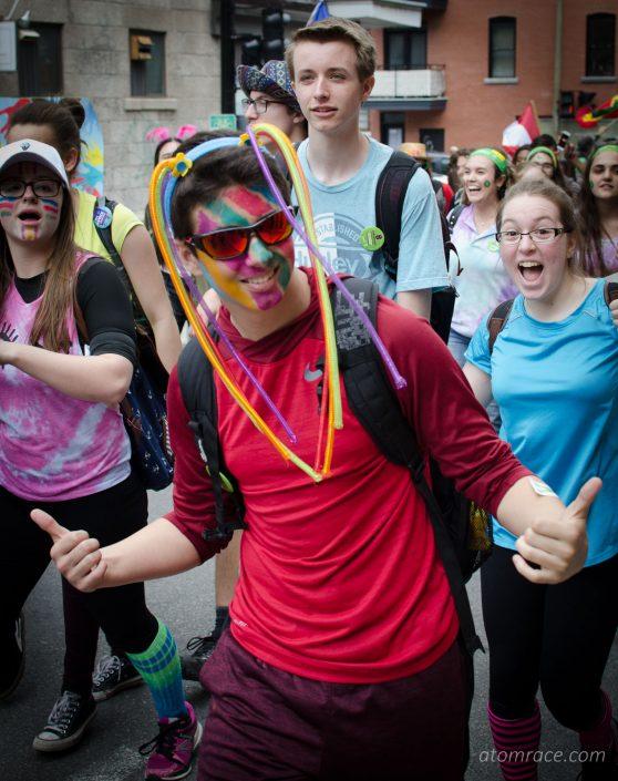 Étudiant déguisé à la Marche monde 2017