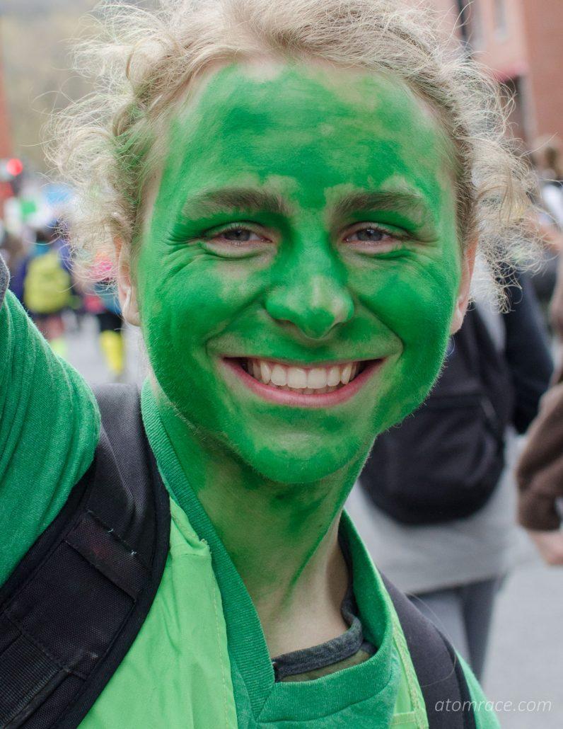 Sourire vert à la Marche monde 2017