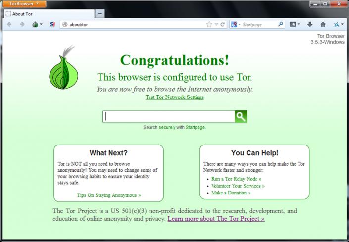tor browser capture écran