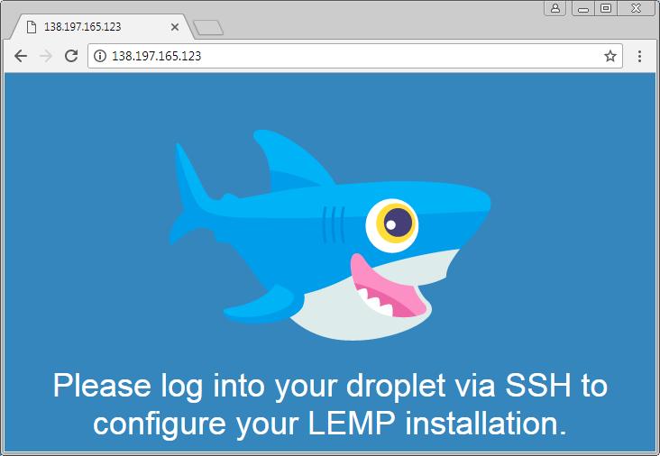 Accès au serveur Web par l'adresse IP du serveur.