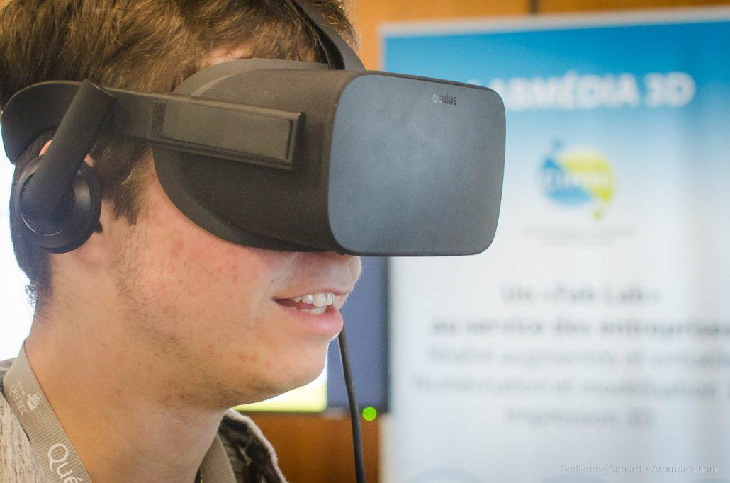 William avec le Oculus