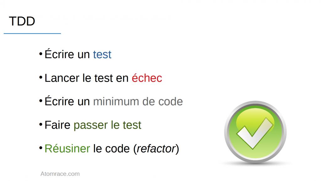 5 étapes du developpement logiciel piloté par les tests