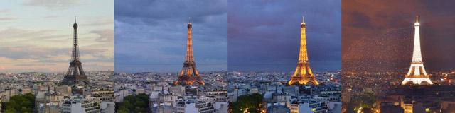 Paris ville lumière - Vidéo accélérée par Guillaume Simard